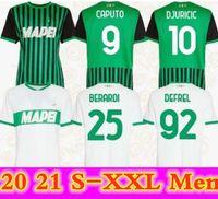 Caputo Sassuolo Soccerys Jerseys Berardi 2021 Trawore Djuricic Футбольная футболка 20 21 M.lopez Boga Defrel Futbol CamiSas Футбол Камиссетас Рубашка