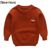 Beke mata camisola bebê para meninos inverno tricotada criança camisola de menino manga longa crianças Cardigans algodão crianças suéteres Y200901