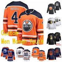 2020 2021 Edmonton Oilers Jersey 4 Dylan Holloway Kyle Turris Anton Forsberg Alan Quine Tyson Barrie personnalisé Hommes Femmes Enfants Cousu
