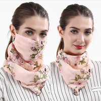 Scarf Face Mask Women Dustproof Mouth Cover Summer Chiffon H...