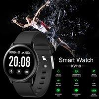 KW19 Smart Watch Waterproof Blood Pressure Heart Rate Monitor Fitness Tracker Sport Intelligent Wristbands Gift