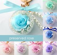 Korunmuş gül çiçek akrilik topu anahtarlık ölümsüz çiçek püskül romantik hediye sevgililer günü doğum günü1