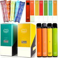Puff Bar plus Einweg-Gerät-Pods vorgefüllte 3,2-ml-Kartuschen Vape-Stifte Tauchplus-Starter-Kits 80 Farben mit Scratch-Code leer
