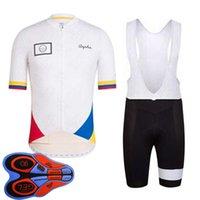 Rapha Equipo Ciclismo Manga corta Jersey Babero Pantalones cortos Traje Hombres transpirable MTB Trajes de bicicleta Uniforme de bicicleta Ropa deportiva al aire libre 030931
