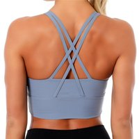 Plus Size 2XL Cross Back Women Sport Bras Buttery Soft Mediu...