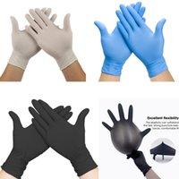 Bleu 50/100 pcs Latex nitrile jetable blanc pour produits ménagers produits de nettoyage industriel gants de tatouage de tatouage K0ZW