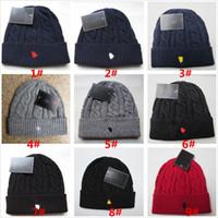 Hombres diseñadores Beanie Hats Woolen Hooling Hat Sombrero Mujer Marca Cálido Invierno Gorros Diseñador Tapa de punto 9 Colores