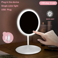 Makeup mirror with led mirrors standing mirror touch screen vanity mirror backlit adjustable light desk cosmetic mirrors DWF2137