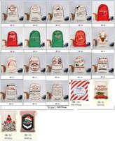 Рождество Хэллоуин мешок подарок Нового холст сумка Больших хранения Сант Олени кулиска конфета мешок Рождество Свадьба 30 Стили HH7-1291