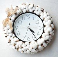اكليل الزهور الزخرفية 2021 ساعة تصميم قطنية على مدار الساعة لتصميم الديكور الداخلي الأمريكي 1