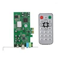 Conectores de Cabos de Computador PCI-E Interno Televisão Interna MPEG Vídeo DVR Capture Recorder PAL BG I NTSC SECAM PC Multimedia Remote1