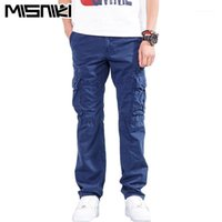 Pantalon Hommes Misniki 2021 Spring Automne Hommes Cargo avec de nombreuses poches Pantalon de travail de coton 29-40 Cyg3511