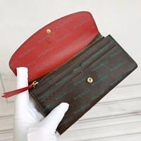 Porte-monnaie Portefeuille à glissière pour femmes Portefeuilles Portefeuille pour femmes Porte-cartes Poche longue Femmes fourre-tout Sacs sacs de monnaie avec boîte