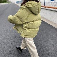 Femme's Down Parkas Mooirue Automne Winter Streetwear Coréen Veste Manteau Femelle Coton-Padded Inspaissement à manches longues épaississantes