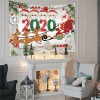3 2020 Chirstmas Goblen Duvar Battaniye Asma Dul Karikatür Halı Karantina Aile XAMS Süsleme Dekorasyon E101302 yazdır Tasarımları