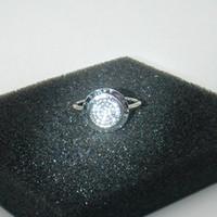 Fashion- Design classico Autentico 925 anelli in argento sterling 925 Compatibile Fit Pandora Gioielli con Logo Round Disc CZ Anello pavimentato