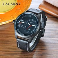Cagarny Männer Uhren Quarz Mode Uhr Männliche Wasserdichte Leder Armbanduhren Montre Homme de Marque