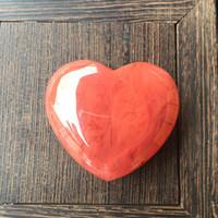 Ornamento semiprezioso a forma di cuore a forma di cristalli naturali pietre rosa colorato fai da te delicata donne arti e mestieri Nuovo arrivo 9tr M2