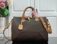 M41113 Speedy Bandouliere 25 30 сумка дуплексная печать бостон сумки для покупок сумки мода женская подушка на плечо сумка косметика макияж M44602