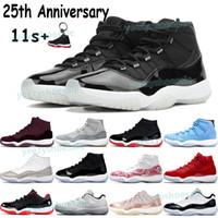 أحذية كرة السلة للرجال 11 11S أحذية رياضية 25th الذكرى الورثة ليلة مارون بريد بارد رمادي كونكورد 45 منخفضة أسطورة الأزرق رجل المدربين