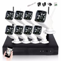 Система CCTV 1080P 8CH HD Беспроводной комплект NVR NVR Открытый ИК Ночное видение 2.0MP Камера Wi-Fi Комплект камеры Домашняя безопасность Система наблюдения