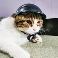 Casco de motocicleta para mascotas Casquillo de perro Cosplay Cosplay con cojín protector Tocado para el hogar Animal Dogs Ornamentos1
