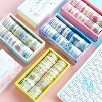 20pcs gift wrapping sticker paper tape set cute plant ocean starry sky forest cherry blossom sticker scrapbook masking tape