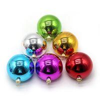 2020 sublimación térmica Chucherías del árbol de Navidad bola brillante brillante Bolas colgantes de la chuchería inastillable Adornos Decoración 3 SizesF102204