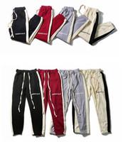 2021 случайных махрового Jogger мужских брюк противотуманной двойной линия Основы сшивание пыхтение популярных хип-хоп уличный стиль мужских брюк