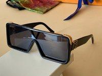 مليونير 1285 شمسية للرجال الكاملة إطار قناع خمر مصمم النظارات الشمسية للرجال لامعة الذهب حار بيع الذهب مطلي الأعلى جودة Z1285E