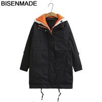 Bisenmade Large Size Women's Parka Warm Winter New Loose Fake Two-piece Padded Jacket Fashion Temperament Down Cotton Coat