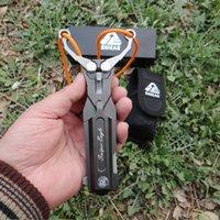 스테인레스 스틸 접이식 나이프 슬링 샷 야외 다기능 생존 나이프 금속 경쟁력 자기 방위 휴대용 사냥 201111