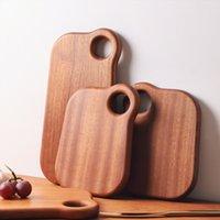 Japonya Stili Abanoz Ahşap Mini Kesme Kurulları Eko Doğal Masif Meyveler Kütüğü Breadboard Tatlılar Plakalı
