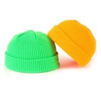 الدافئة للجنسين في فصل الشتاء بيني عارضة هوب قصير الموضوع الهيب هات الكبار الرجال قبعة أنثى صوف محبوك قبعة القبعة مطاطا قبعات