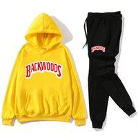 2021 Yeni Erkekler Hoodies Tişörtü Setleri Sonbahar Artı Polar Moda Spor Erkek Hoody Backwoods Baskılı Kostüm GDNN