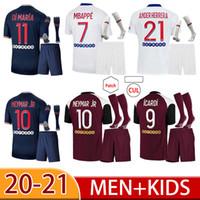 Maillot de foot 20 21 kimpembe دي ماريا كين ماركنووس لكرة القدم جيرسي mbappe icardi كرة القدم قميص الرجال الاطفال hommes enfants