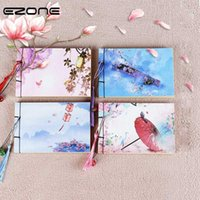EZONE A6 Çin Vintage Stil Dizüstü 120 Sayfa Kraft Kağıt İç Sayfalar Dizüstü Güzellik Püskül Okulu Ofis Arzı1