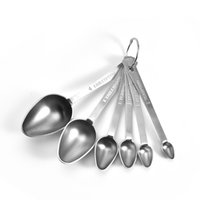 Stainless Steel Measuring Spoons, Set of 6 for Measuring Dry...