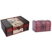 Jewelry Pouches, Bags 2 Pcs Necklace Bracelet Gifts Box Storage Organizer Wooden Cases Size-12 X 7.8 8Cm & 23 16 9.5Cm