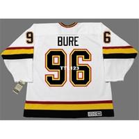 Real 421 Реальная полная вышивка # 96 Pavel Bure Vancouver Canucks 1996 CCM Vintage Hockey Jersey или пользовательское имя или номер хоккея