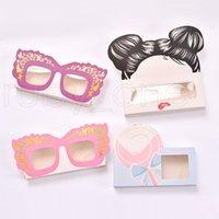 Cartoon 3D Mink Eyelash Package Boxes False Eyelashes Packaging Empty Eyelash Box Case Creative Heart Shaped Lashes Box Packaging RRA4086