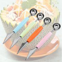 Acciaio inox Acciaio in acciaio Acciaio Merlilitore Hami Melone Frutta Fipper Carving Knife Fruit Merp Dipper Scooper Ballerini Strumenti di frutta YHM690
