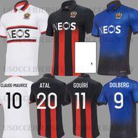 19 20 OGC Nice home Camisetas de fútbol LEES MELOU 2019 OGC Nice SRARFI BIHAN ATTAL camiseta de fútbol 2019 2020 camisetas de fútbol azul