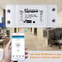 New Sonoff 기본 R2 WiFi 무선 DIY 모듈 스위치 스마트 원격 On / Off 타이밍 Moudle 컨트롤러 Alexa 음성 제어 Domotica