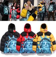 Donne mens giù parkas inverno tuta sportiva giacca casual giacca calda giacca calda unisex cappotto outwear hip hop uomini streetwear x6102