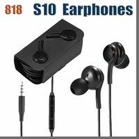 818D EAR 유선 3.5mm 잭 S10 이어폰 헤드폰 이어폰 이어폰 이어폰 S10 S9 S8 플러스 노트 8 9 10 EO-IG955