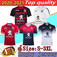 New 2020 2020 2021 تولوز المنزل بعيدا الركبي الفانيلة 19/20/21 Stade Toulousain Rugby Mailleot Camiseta Maglia Training Shirt