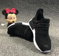 Çocuklar İnsan Yarışı Koşu PHARRELL WILLIAMS İÇİN LED Ayakkabı Örnek Sarı Çekirdek Siyah Çocuk Sneakers Toddler Erkek Kız Doğum Günü Hediyesi
