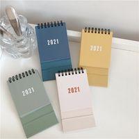 Calendario mensual Calendario de calendario Portabl Mini Flip 2020-2021 Escritorio de pie