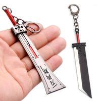 Final Fantasy 7 VII طبعة جديدة السيف المفاتيح سحابة الصرص bucer السيف زاك المعدلة المعدنية قلادة سلاسل المفاتيح تأثيري llaveros1